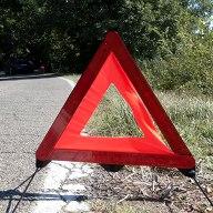 Foto van een gevarendriehoek